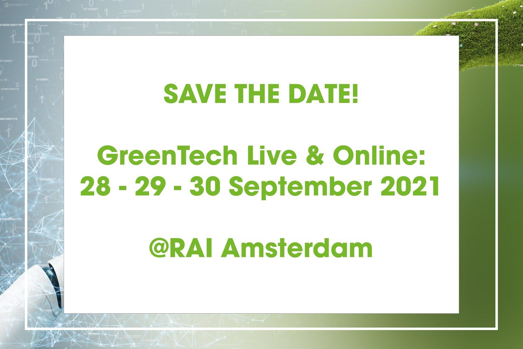 GreenTech Amsterdam 2021 in blended format